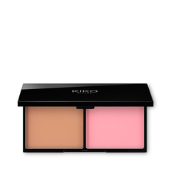 Two-tone, blend-effect blush with a matte finish - WATERFLOWER MAGIC BLUSH - KIKO MILANO