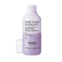 A travel-size package containing 10 make-up remover wipes for the face, eyes and lips - Pure Clean Wipes Mini - KIKO MILANO