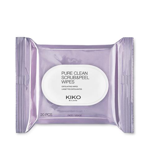 20 Erfrischungs- und Peeling-Kosmetiktücher 2-in-1 | Pure Clean Scrub&Peel | Kiko Milano