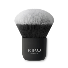 Flat-topped brush with synthetic fibers for applying liquid or mousse products - Face 05 Round Foundation Brush - KIKO MILANO
