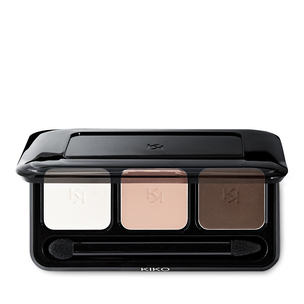 Palette with four baked eyeshadows for wet and dry use - Bright Quartet Baked Eyeshadow Palette - KIKO MILANO
